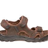 Босоножки сандалии мужские кожаные restime ngl19111 l.brown
