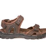 Босоножки сандалии мужские кожаные restime nml19114 l.brown