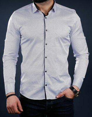Рубашка мужская длинный рукав Турция 01-41-726