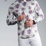 Рубашка мужская длинный рукав Турция 01-22-741