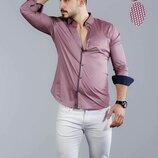 Рубашка мужская длинный рукав Турция 05-21-749