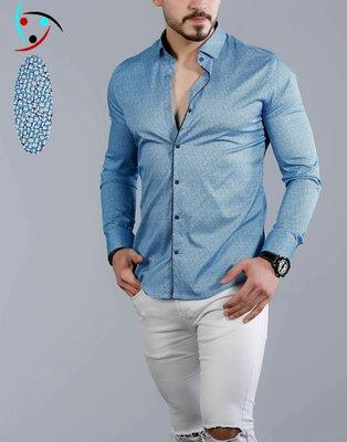 Рубашка мужская длинный рукав Турция 22-21-743