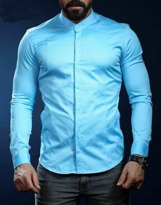 Рубашка мужская длинный рукав Турция 22-61-419