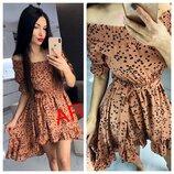 Красивое платье 42 - 44 пять расцветок