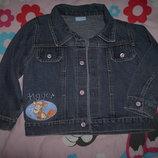 джинсовый пиджак жакет курточка на 18-23 мес