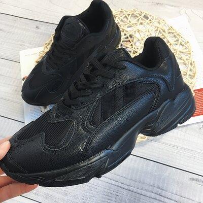 Стильные кроссовки, белые, черные