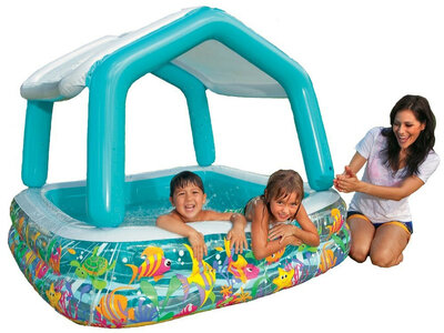 Детский бассейн надувной Intex Домик морской