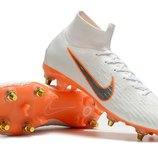 Футбольные бутсы Nike Mercurial Flyknit Superfly VI Elite SG AC White/Orange Арт. 4064