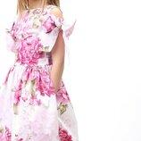 Платье Шарм нарядное модное стильное в цветочный принт
