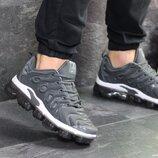 Nike Air Vapormax Plus кроссовки мужские демисезонные серые 7726