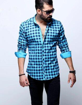 Рубашка мужская длинный рукав Турция 25-25-002