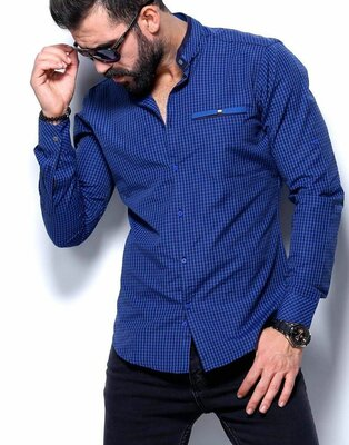 Рубашка мужская длинный рукав Турция 27-51-161