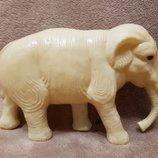 Игрушка Ссср слон слоник зоопарк целлулоид клеймо Зкб Ссср 15 см. не частый