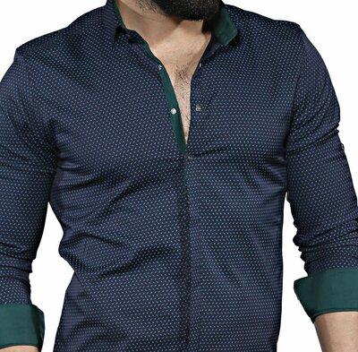 Рубашка мужская длинный рукав Турция 35-01-646