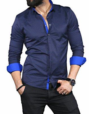 Рубашка мужская длинный рукав Турция 35-01-658