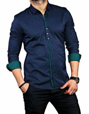 Рубашка мужская длинный рукав Турция 35-02-575