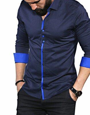 Рубашка мужская длинный рукав Турция 35-02-648