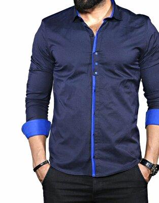 Рубашка мужская длинный рукав Турция 35-02-667