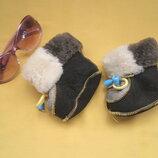 Новые натуральные ботики,ботинки на овчине,на грудничка