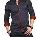Рубашка мужская длинный рукав Турция 35-02-574