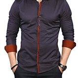 Рубашка мужская длинный рукав Турция 35-02-649