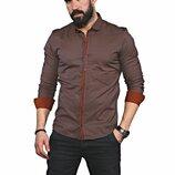 Рубашка мужская длинный рукав Турция 35-02-665