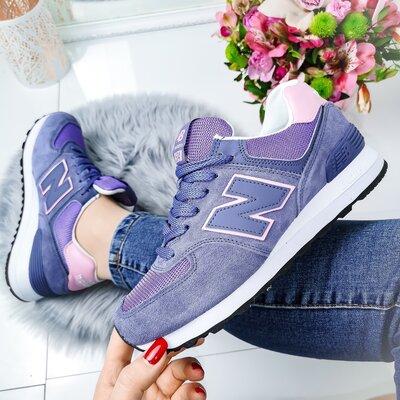 Женские фиолетовые кроссовки New Balance