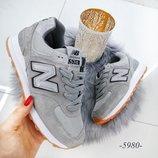 Женские серые замшевые кроссовки New Balance