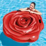 Надувной матрас плотик Intex 58783 Красная роза137-132 см