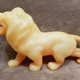 лев царь зверей 22 см. игрушка Ссср зоопарк