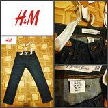 джинсы с подтяжками от H&M, подростковые на 12-13 лет., оригинал, пр-во Пакистан