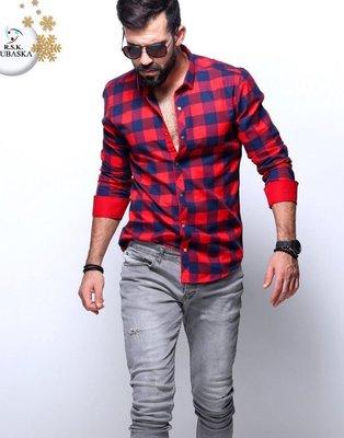 Рубашка мужская длинный рукав Турция 50-31-001