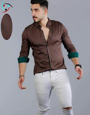 Рубашка мужская длинный рукав Турция 75-21-754