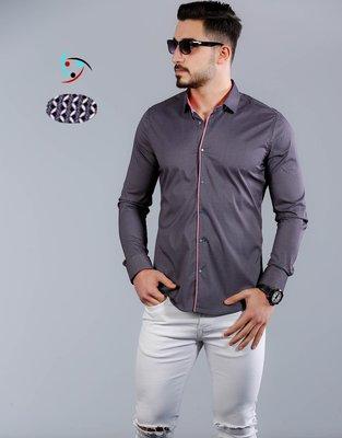 Рубашка мужская длинный рукав Турция 80-21-748