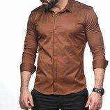 Рубашка мужская длинный рукав Турция 74-07-436
