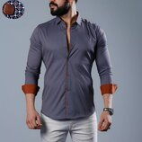 Рубашка мужская длинный рукав Турция 74-21-734