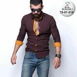 Рубашка мужская длинный рукав Турция 75-01-519