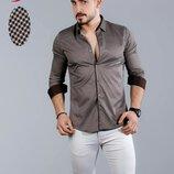 Рубашка мужская длинный рукав Турция 75-21-751