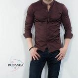 Рубашка мужская длинный рукав Турция 75-61-445