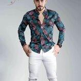 Рубашка мужская длинный рукав Турция 80-22-742