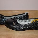 Шкільні туфлі балетки на дівчинку літні Clibee арт.53 р.31-36 туфли, балетки школьные летние сменку