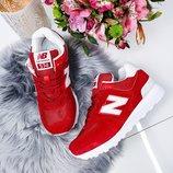 Женские кроссовки New Balance бордо, красные