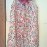 Платье летнее лёгкое летящее 7-10 лет.