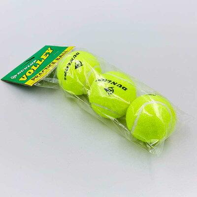 Мяч для большого тенниса Dunl Volley 155 3 мяча в комплекте