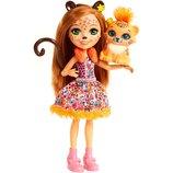 Кукла Чериш Гепарди и питомец Enchantimals Cherish Cheetah and Quick-Quick