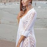 Пляжная кружевная туника с хлопка INDIANO 1326 Fresh Cotton в наличии