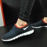 женские кроссовки NIKE Free 3.0 синие с красным и темно синие 37-41р