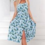 Стильный женский коттоновый сарафан платье хит сезона скл.1 арт.53256
