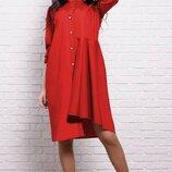 Яркое молодежное Платье с асимметрией 42-60р