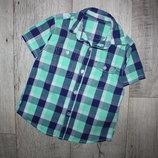 Шведка рубашка клетка George 4-5 лет, рост 104-110 см.